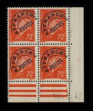 FRANCE - 1942 - Préo 84 - COIN DATÉ DU 18 MAI 1942 - NEUF **