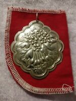 1984 Towle Sterling Silver Flowers of Christmas - Mistletoe Ornament 2 1/4""