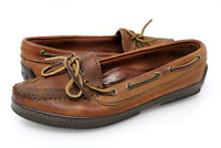 Ralph Lauren Country Womens 6.5 B Brown Leather Moccasin Loafers Shoes