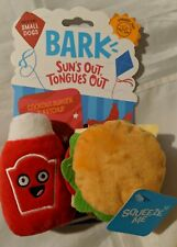 BARK cookout burger and ketchup crazy crinkle & squeakers for small dogs