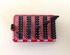 Breadboard friendly Five Decade Programmable Resistor Board, 1%, 1/4W, KIT