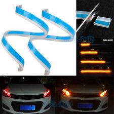 Amber Red 60cm Car Flexible Tube LED Strip Turn Signal DRL Light Headlight