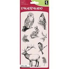 INKADINKADO RUBBER STAMPS CLEAR WINTER WILDLIFE NEW clear STAMP SET
