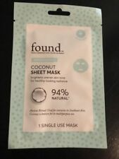 FOUND Coconut Sheet Mask-Brightens Uneven Skin Tone 1 single use mask