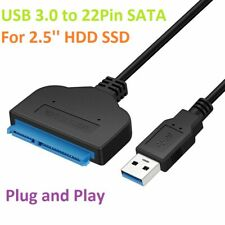 USB 3.0 To SATA 22 Pin 2.5 Inch Hard Disk Drive SSD Adapter Connector Cable Lead