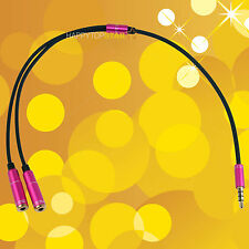 Rose 3.5 mm Headphone Earphone Stereo Audio Splitter Cable Cord For iPhone iPad