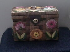 Vintage Bags By Patricia Wicker & Rafia Sewing Basket Made in Philippines