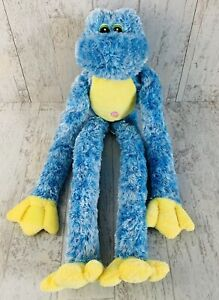 """Animal Alley Blue Frog Yellow Green Plush Long Floppy Arms Legs 21"""""""