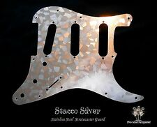 Strat Stainless Steel Guard, Etched Chrome Fender Stratocaster Metal Pickguard