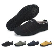 Mens Winter Indoor Plush Home House Snow Slippers Outdoor Warm Fur Lining Shoes