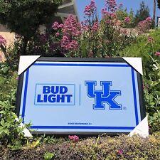Bud Light Ncaa Kentucky Wildcats College Basketball Beer Bar Mirror Man Cave Pub