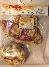"""9"""" MUFFY VANDERBEAR PICNIC IN PROVENCE COLLECTION NEW IN ORIGINAL PACKAGE"""