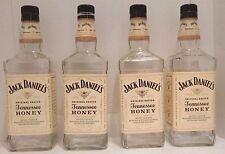4 Jack Daniels Tennessee Honey Whiskey 750ml Bottles + Caps 750 ML Crafts Bottle