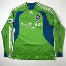 Seattle Sounders Inaugural Season Soccer Jersey LS Adidas Xbox 2008 2009 Large