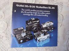 Vintage Rollei 35/B35 Rolleiflex SL26 Camera Catalog
