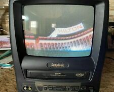 """Symphonic 9"""" Color TV CRT VHS VCR Combo Model # SC309A NO REMOTE"""