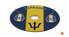 Barbados Flag design teardrop hanging earrings