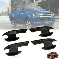 MATTE BLACK DOOR HANDLE BOWL COVER 4 DOOR FIT FOR ISUZU D-MAX DMAX BLADE 19-20
