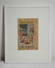Indien Antike Miniaturmalerei i.Rahmen Harem Szene Erotik Rajasthan India ~19Jh