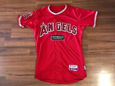 Majestic Los Angeles Angels Authentic Cool Base Red Jersey Mens Sz 40 On Field