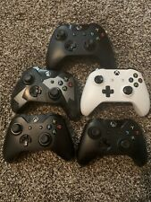 Lot of 5 XBOX ONE Wireless Controllers - As is - Models 1537, 1697, 1708