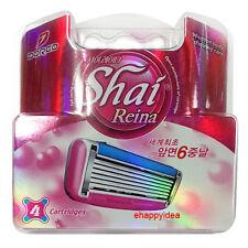 Dorco SHAI Reina Blade ,6 Blade Razor Shaver System : 4 Refill Cartridges