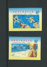 AUSTRALIA 1994 Life Saving Self Adhesive 'Booklet Stamp' Set Mint (SG 1443-1444)
