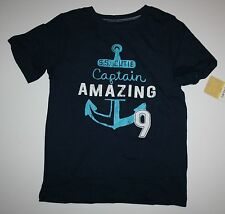 New Carter's Boys SS Cutie Captain Amazing Anchor Graphic Tee Top 6 Year NWT