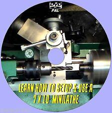 7X10 MINI LATHE MACHINE OPERATING SKILLS TUTORIAL EASY TO FOLLOW VIDEO DVD NEW