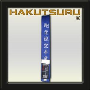 Competition Master Belt - Goju-Ryu Karate-Do Embroidery - Blue - Hakutsuru Eq.