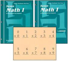 Saxon Math - Grade 1 Student Workbooks & Fact Cards NEW!