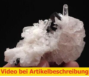 7614 Fluorit rosa UV Einschlüsse Hübnerit ca 8*5*6 cm Pasto Bueno Peru  MOVIE
