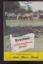 Firestone Lawn & Garden folleto de información útil céspedes Flores arbustos 1947