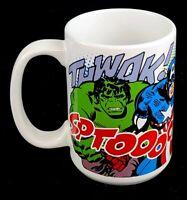 Marvel Comics Superheroes 12oz Ceramic Coffe Mug/Cup Hulk Ironman Spiderman