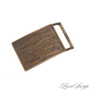 #1 MENSWEAR Vintage Levis Levi Strauss Made in USA XX Brass Belt Buckle NR Metal