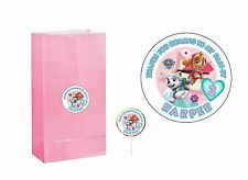 20 Paw Patrol 2 in Sticker Party Bag Tag Favor Lollipop Personalize SKY EVEREST