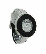 Moschino MW0009 Time for Music Vinyl Record Women's Watch White Leather Strap