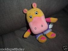 RICHARD SCARRY PLUSH DOLL FIGURE BEANBAG HIPPOPOTAMUS BUSY TOWN HILDA HIPPO TOY
