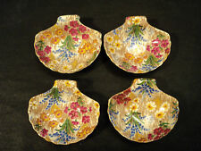 "RARE SET/4 ROYAL WINTON ""MARQUERITE"" CHINTZ NUT DISHES"