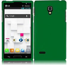 For LG Optimus L9 Rubberized HARD Protector Case  Phone Cover Green