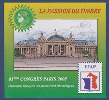 BLOC FFAP N°  2 ** 81è Congrès PARIS 2008, NEUF, TB