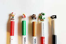 NEW NINTENDO DS SUPER MARIO-BROS 2  STYLUS TOUCH PENS- SET OF 5 FOR  NEW.