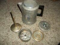 Vintage COWEN Aluminum 9 Cup Coffeepot Coffeemaker Camping