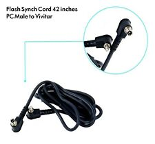 "42"" Flash Strobe Sync es PC Cord for Vivitar 283 285 285HV Flash Camera DSLR"