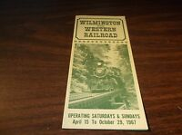 1967 WILMINGTON AND WESTERN RAILROAD TIMETABLE