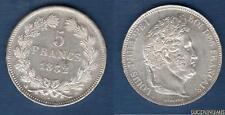 Louis Philippe Ier 1830-1848 – 5 Francs Tête Laurée 1832 D Lyon SUP ++