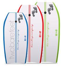 """Two Bare Feet Boarding Co 37"""" 41"""" 42"""" Bodyboard + Leash Set Boogie Board Surf"""