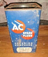 AC Spark Plugs Cleaning Compound Model Advertising Containers Collectible Tin