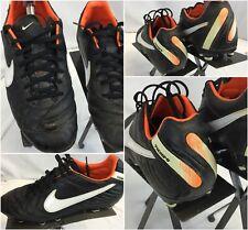 Nike Tiempo Mystic IV FG Soccer Cleats Sz 7.5 Men Black Mint YGI I8S-15