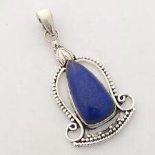 "Lapis Lazuli Solid 925 Sterling Silver Buddha Pendant S 2"""